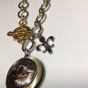 Jewelry - ONHOLD..Two tone Authentic coco Button necklace.